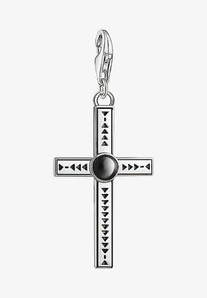 CHARM ETHNO KREUZ  - Pendant - silver-coloured, black