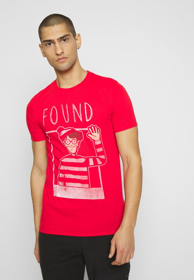 WHERES WALDO - T-shirt imprimé - red