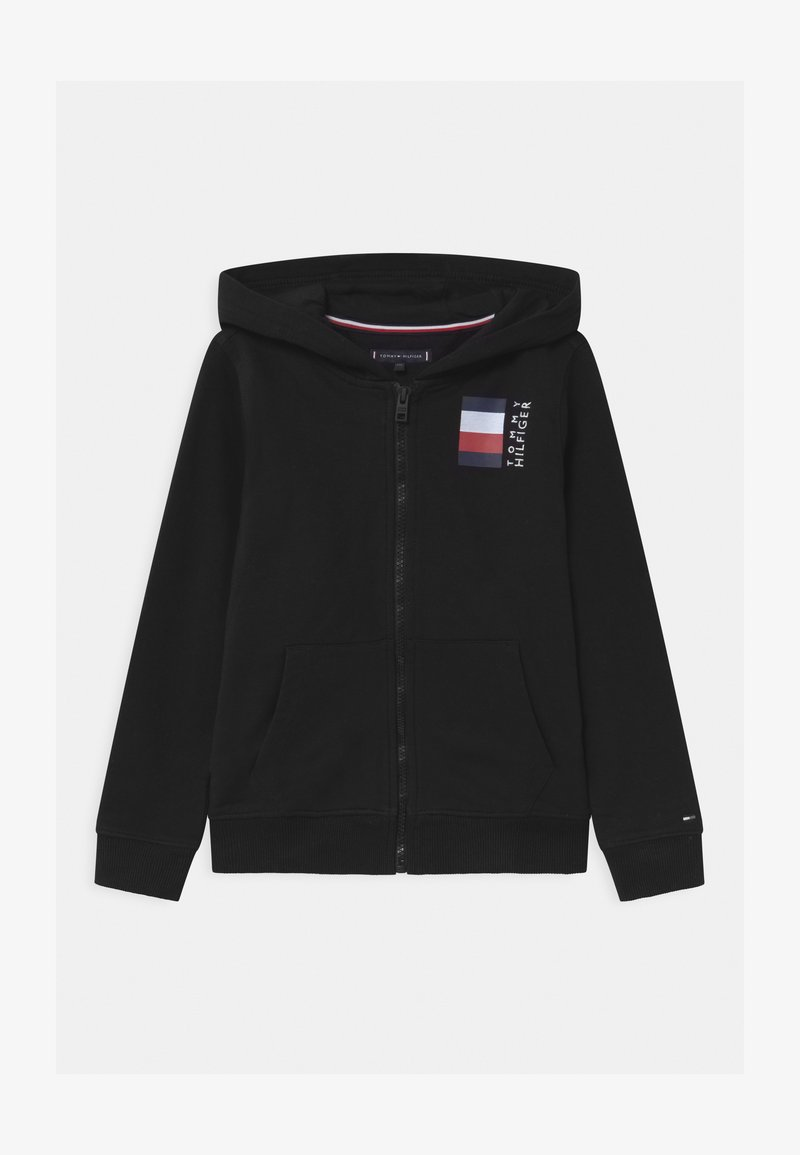 Tommy Hilfiger - GLOBAL STRIPE HOODED  - Mikina na zip - black