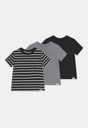 ORGANIC 3 PACK - T-shirt z nadrukiem - true black