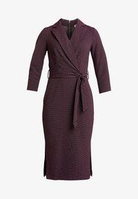 Closet - CLOSET 3/4 SLEEVE PENCIL DRESS - Robe d'été - maroon - 4