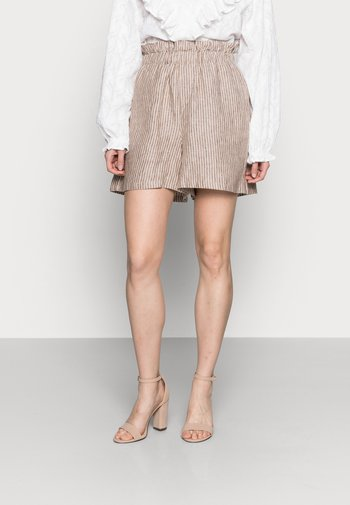 ISOBEL PAPERBAG WAIST - Shorts - cinnamon brown