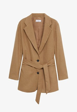 Short coat - open beige