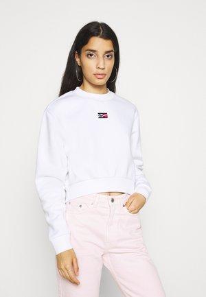 CROP TINY - Sweatshirt - white