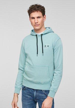 MIT WASCHEFFEKT - Hoodie - turquoise