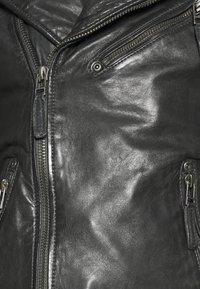 Gipsy - MALIK UNISEX - Kožená bunda - anthracite - 4