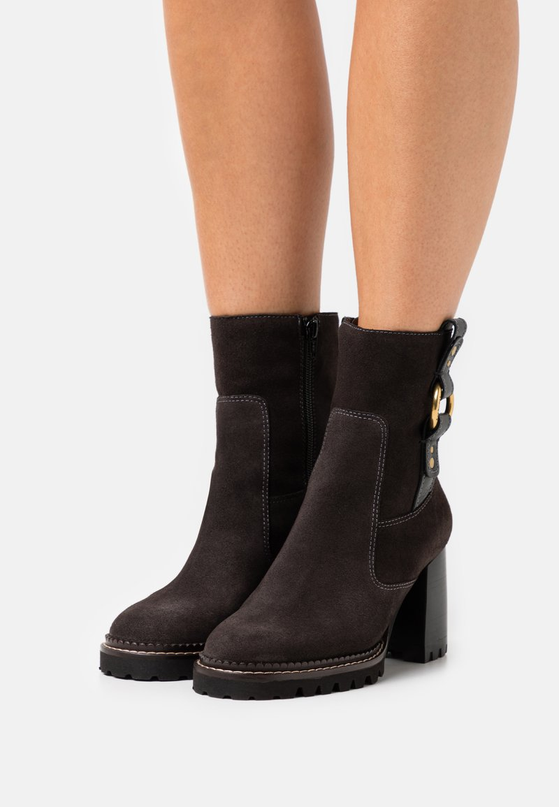 See by Chloé - ERINE - Classic ankle boots - charcoal