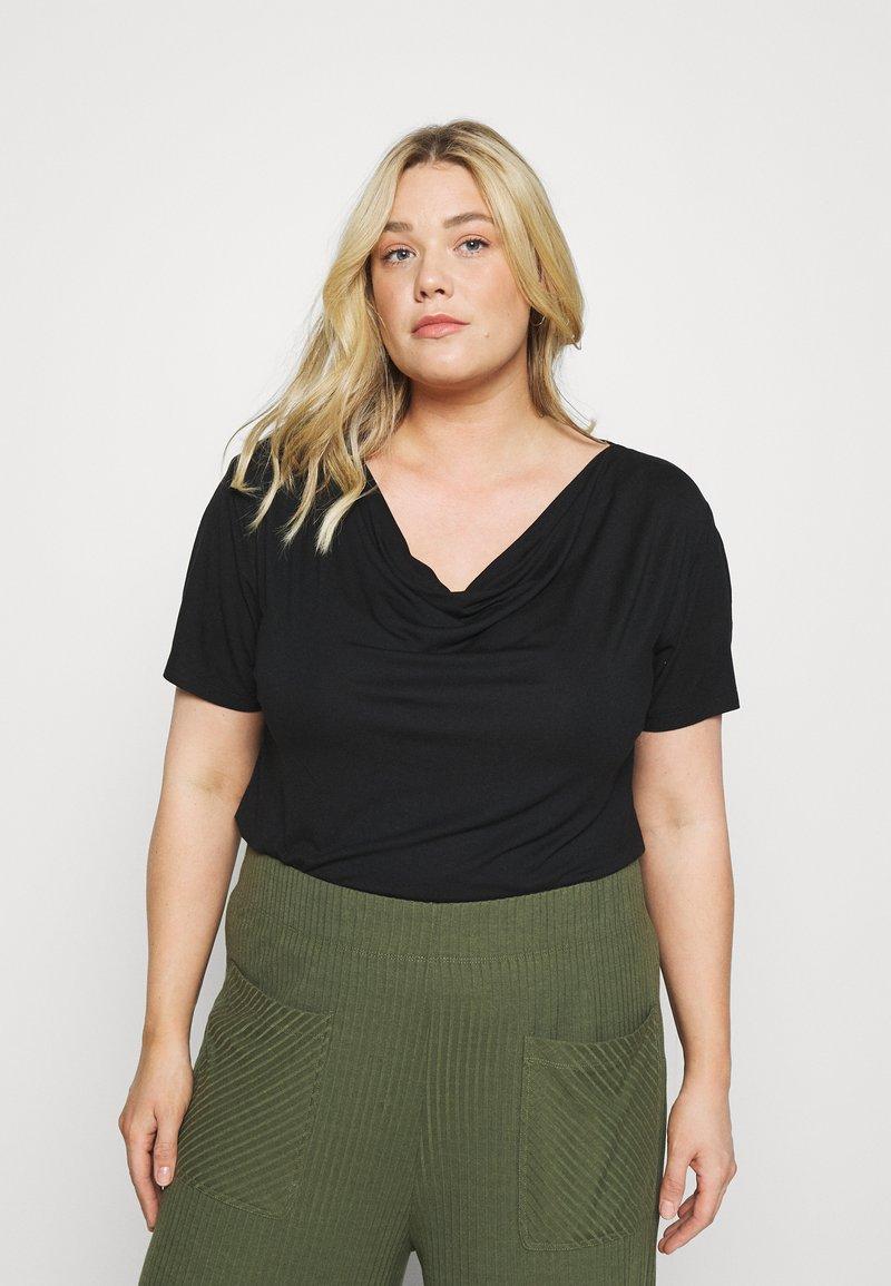 Anna Field Curvy - Camiseta básica - black