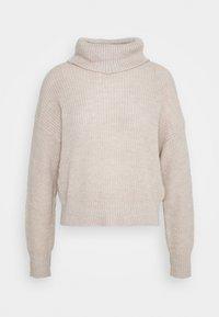 Roll neck- wool blend - Jumper - grey