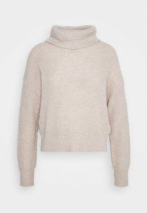 Roll neck- wool blend - Strikpullover /Striktrøjer - grey