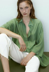 Massimo Dutti - Button-down blouse - green - 2
