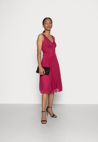 Anna Field - LACE V NECK OCCASION DRESS PURPLE POTION - Cocktail dress / Party dress - red - 1