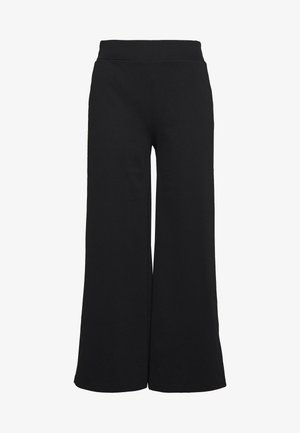 KATE WIDE - Pantalones - black