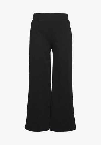 KATE WIDE - Trousers - black