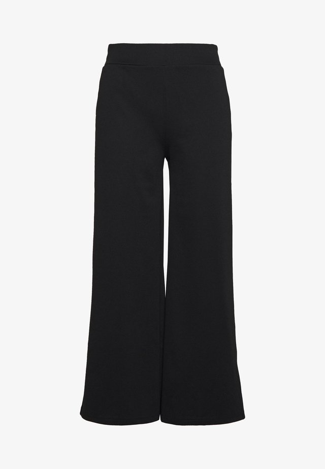KATE WIDE - Pantaloni - black