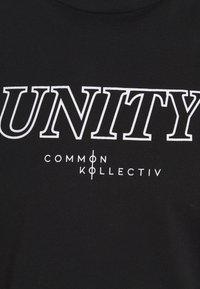Common Kollectiv - UNITY UNISEX - T-shirt imprimé - black - 2