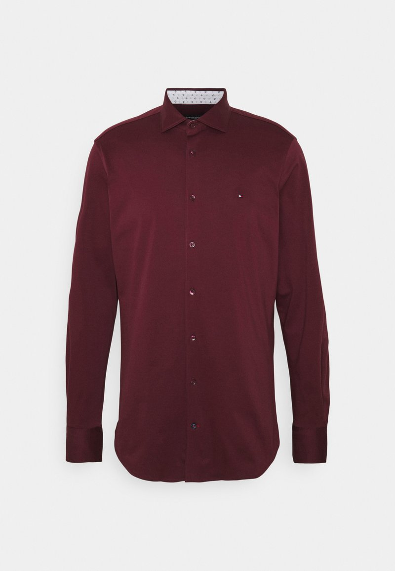 Tommy Hilfiger Tailored - SOLID SLIM SHIRT - Formal shirt - deep rouge/white
