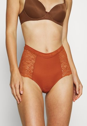 OMA BRIEF - Pants - brown medium dusty