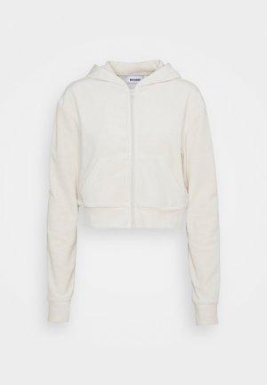 JUNO ZIP HOODIE - Zip-up sweatshirt - cream