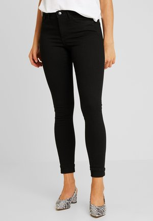 VMTANYA PIPING - Jeansy Skinny Fit - black