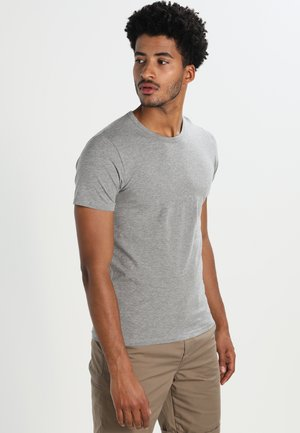 NOOS - Basic T-shirt - light grey melange