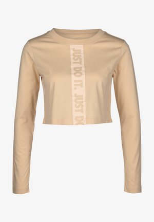 Long sleeved top - white/mottled beige