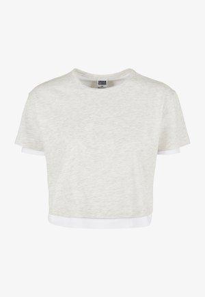 Jednoduché triko - lightgrey/white