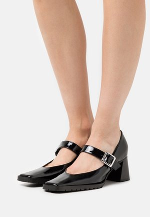 MARY JANE BLOCK HEEL  - Tacones - black