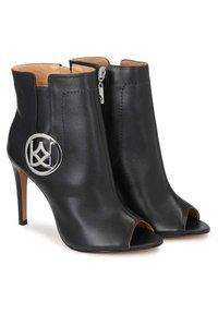 Kazar - MEGAN - Peeptoe heels - black - 2