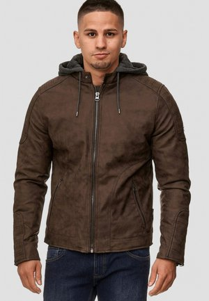 MIGUEL  - Faux leather jacket - brown