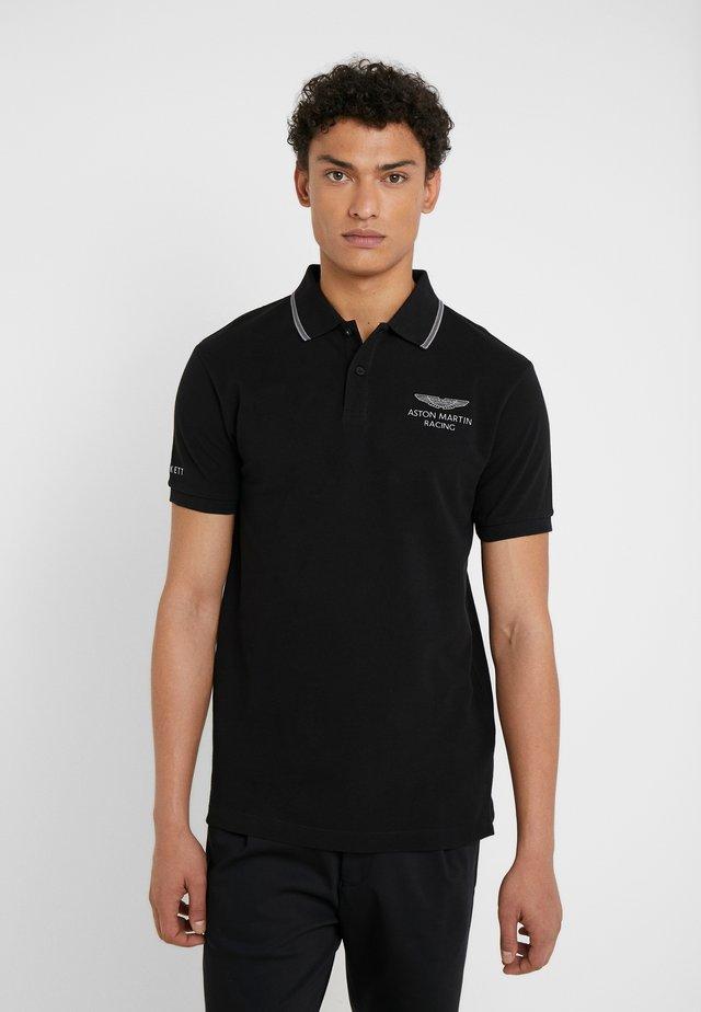 AMR FINE TIP POLO - Koszulka polo - black