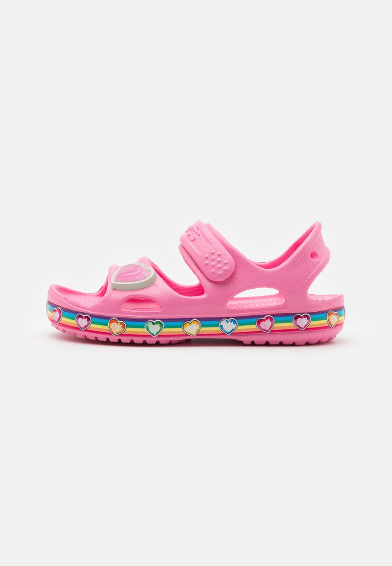 Crocs - FUN RAINBOW - Pool slides - pink lemonade