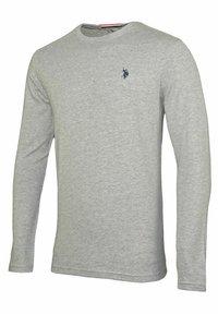 U.S. Polo Assn. - MIT RUNDHALSAUSSCHNITT R-NECK - Long sleeved top - grau - 1