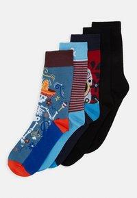 Jack & Jones - JACMEXICO STRIP SOCK 5 PACK - Chaussettes - black/red/blue - 0