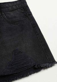 Mango - HELEN - Jeans Short / cowboy shorts - black denim - 6
