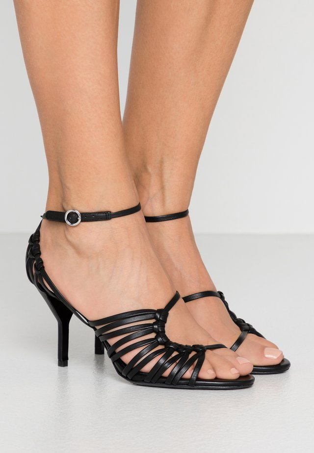 STRAPPY  - Sandaler med høye hæler - black
