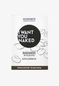 I WANT YOU NAKED - SHOWER SOAP - Soap bar - kaffee & mandelöl - 0