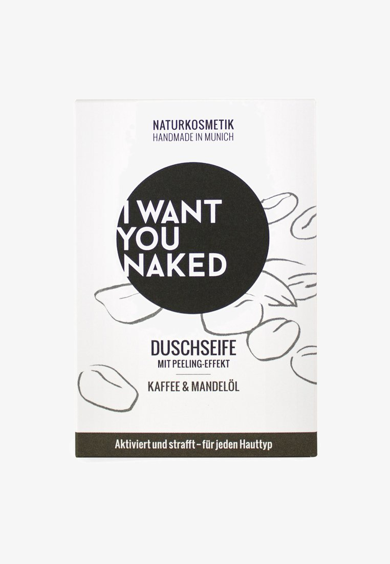 I WANT YOU NAKED - SHOWER SOAP - Soap bar - kaffee & mandelöl
