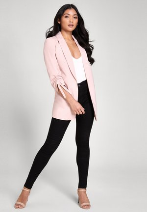 RUCHED  - Short coat - pink