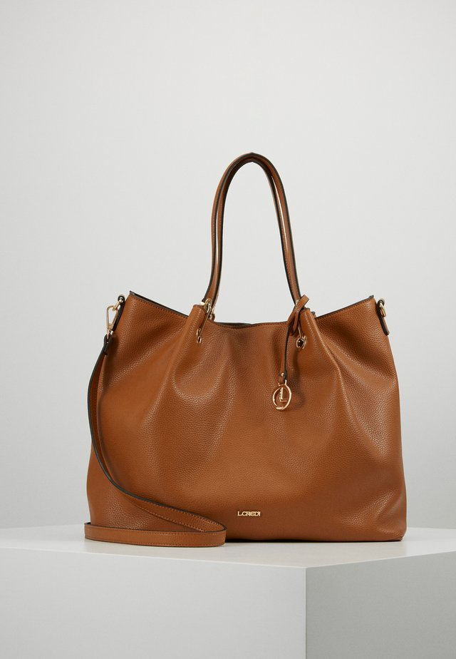 EBONY - Bolso shopping - cognac