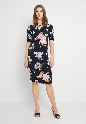VIEBONI DRAPING DRESS - Day dress - navy blazer