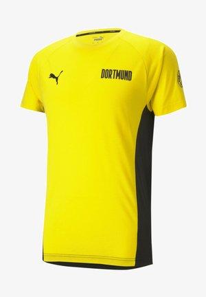 Print T-shirt - cyber yellow-black