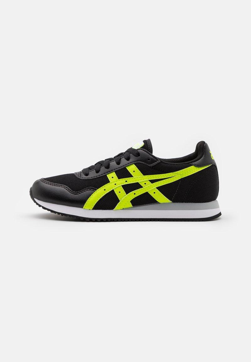 ASICS SportStyle - TIGER RUNNER UNISEX - Zapatillas - black/hazard green