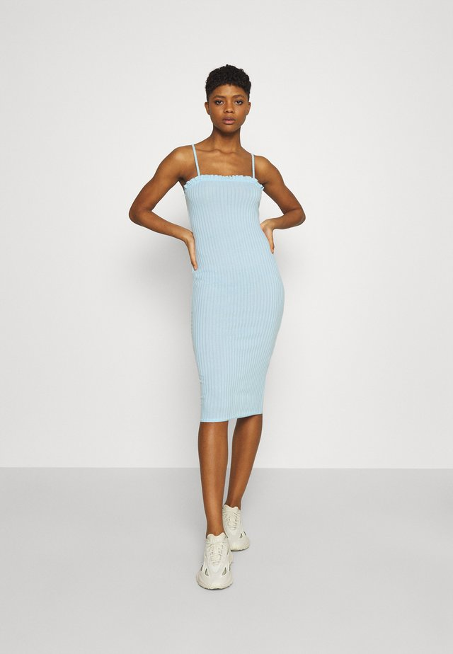 LETTUCE EDGE MIDI DRESS - Jersey dress - powder blue