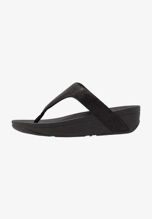 LOTTIE GLITZY - T-bar sandals - black