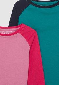 Friboo - 4 PACK - Top sdlouhým rukávem - pink/dark blue/turquoise - 3
