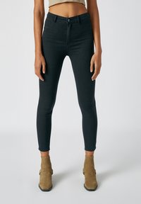 PULL&BEAR - Jeans Skinny Fit - mottled black - 0