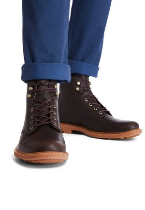BELANGER EK - Lace-up ankle boots - dk brown full grain