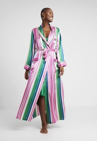 Hesper Fox - AINSLEY CLASSIC LONG ROBE - Dressing gown - pink/blue/white - 1