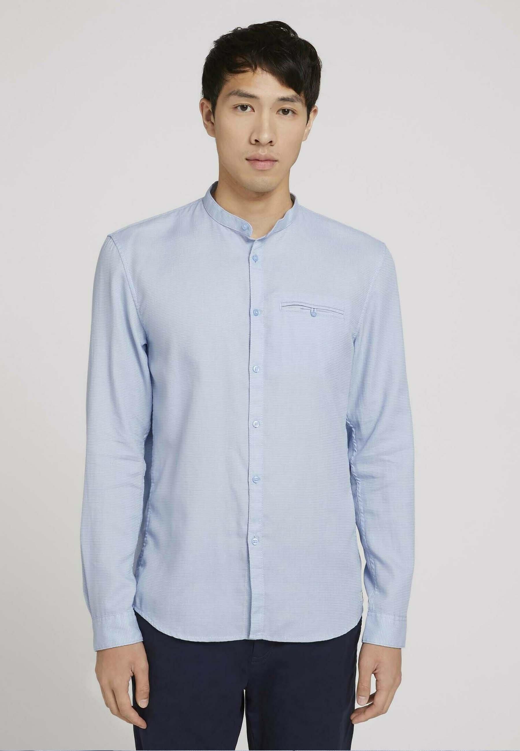 Uomo Camicia - lightblue white